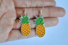 Pineapple Hook Earrings by JamJarShop on Etsy
