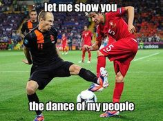 I don't play soccer but this is funny