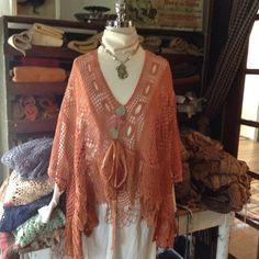 Luv Lucy Poncho Light Pumpkin spice  corset by LuvLucyArtToWear, $150.00
