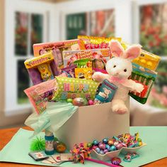 Easter baskets gift baskets chocolate free shipping no sales peters sweetshop of treats easter care package negle Image collections