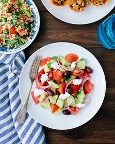 Greek Salad | A Couple Cooks