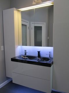 Master Bath remodel - modern - bathroom - austin - by Pegasus Construction LLC- use Besta touch latches with GodMorgon cabinet