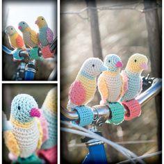 OMG! Handlebar Birdies #Crochet Pattern Download £1.99  http://www.stitchcraftcreate.co.uk/digital-patterns-and-projects/knitting-patterns/craft-bomb-your-bike-downloads/handlebar-birdies-craft-pattern-download?j=674329&e=karenkay@mac.com&l=117048_HTML&u=22407678&mid=1303369&jb=1&et_mid=674329&rid=235316510