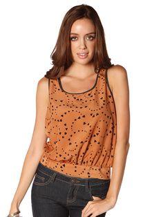 Papaya Clothing Online :: HEART PATTERN SLEEVELESS TOP