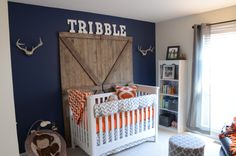 Contemporary Rustic Nursery- This is almost identical to Gavin's room. Too funny!