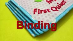 Quiet book binding tutorial/how to bind quiet book page - YouTube