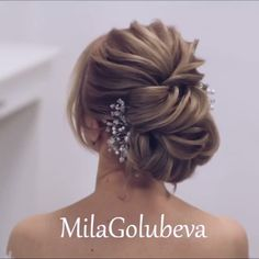 Do you wanna see more fab hairstyle ideas and tips for your wedding? Then, just visit our web site babe! Do you wanna see more fab hairstyle ideas and tips for your wedding? Then, just visit our web site b Braided Hairstyles Updo, Up Hairstyles, Hairstyle Ideas, Hairstyle Wedding, Style Hairstyle, Braided Updo, Updo Styles, Short Hair Styles, Peinado Updo
