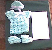 Preemie Set free crochet pattern - 26dc