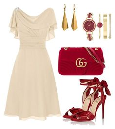 """""""Romántico"""" by taniaisabel-1 on Polyvore featuring Christian Louboutin, Gucci and Anne Klein"""