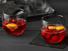 Blood-Red Cherry Punch from FoodNetwork.com #Halloween #HalloweenRecipes #HalloweenTreats