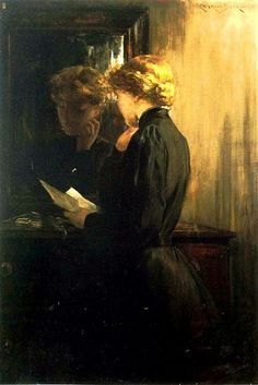 James Carroll Beckwith The Letter painting for sale, this painting is available as handmade reproduction. Shop for James Carroll Beckwith The Letter painting and frame at a discount of off. Reading Art, Woman Reading, Reading Books, Envelopes Bonitos, Classical Art, Beautiful Paintings, Oeuvre D'art, Female Art, Painting & Drawing