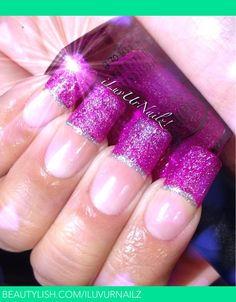 Glittery French Tips | iLuvUrNailz J.'s (iLuvUrNailz) Photo | Beautylish