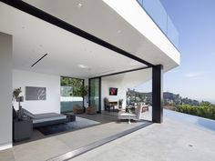 Fashion designer Calvin Klein contemporary house in the Bird Streets of the Hollywood Hills.