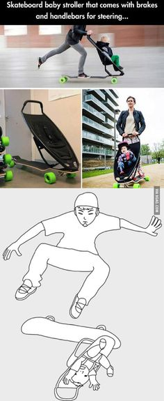 Skateboard for parents of young children, they didn't really think it through.