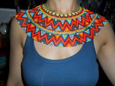 Diy Necklace, Crochet Necklace, Crochet Motifs, African Fashion, Diy And Crafts, Beads, Jewelry, Shakira, Google