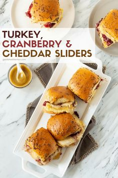 Put your leftovers to work! Feed your guests with ease when you serve these Leftover Turkey Cheddar Sliders with Cranberry! #thanksgiving #leftovers #turkey #sliders