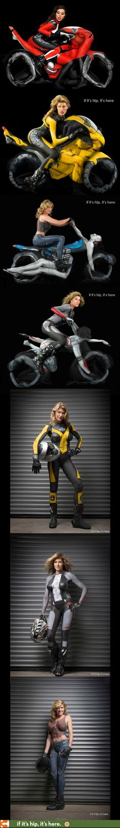 Human Motorcycles made with twisted naked women and body paint. Wow. | http://www.ifitshipitshere.com/human-motorcycles-trina-merry/