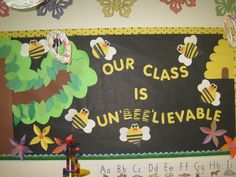 """Bulletin Board for our theme of """" Bugs, Bugs and more Bugs"""""""