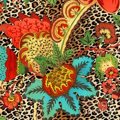 I uploaded new artwork to plout-gallery.artistwebsites.com! - 'Floral Leopard-jp3730' - http://plout-gallery.artistwebsites.com/featured/floral-leopard-jp3730-jean-plout.html