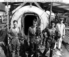 Navy divers at Pearl Harbor.