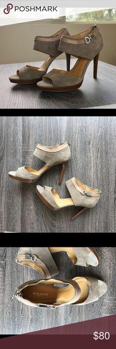 "New Coach 'Wexwood' Heels (Shooties) Tan suede heels from Coach. New without box. 4.5"" heel. Stilettos. Coach Shoes Heels"