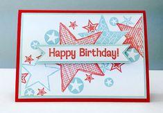 Card by Rachel Greig using Darkroom Door Stars Rubber Stamp Set. http://www.darkroomdoor.com/rubber-stamp-sets/rubber-stamp-set-stars