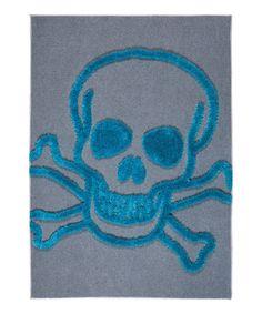 Another great find on #zulily! Blue Skull Crash Rug by Surya Kids #zulilyfinds