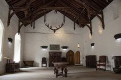 Inside the Great Hall of Cahir Castle, Tipperary. Used as a setting for Stanley Kubrick's classic film 'Barry Lyndon'