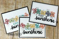 Sunshine Saying Rainbow Cards