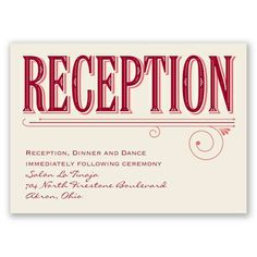 Today is the Day - Apple - Reception Card Wedding Reception Cards, Wedding Invitations, Davids Bridal, Typography, Apple, Letterpress, Apple Fruit, Letterpress Printing, Wedding Invitation Cards