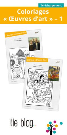 Grant Wood, Paul Gauguin, Pablo Picasso, Oeuvre D'art, Les Oeuvres, Art Lessons, Montessori, Art For Kids, Coloring Pages