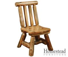 Settler's Heritage Kid's Chair. http://www.homesteadfurnitureonline.com/youth-furniture_settlers-heritage-kids-chair.html