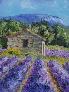 Lavender – Annie Riviere Maler Landschaft Provencal – Art - Photography İdeas,Photography Poses,Photography Nature, and Vintage Photography, Watercolor Landscape, Landscape Art, Landscape Paintings, Watercolor Paintings, Desert Landscape, Beautiful Paintings, Beautiful Landscapes, Impressionist Paintings, Land Scape