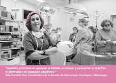 Nuestra prioridad es ganarle la batalla al cáncer y preservar al máximo la feminidad de nuestras pacientes