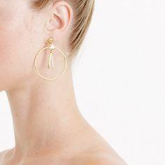 j crew Pendulum hoop earrings $38