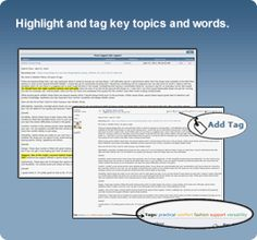 Highlight and tag key topics and words