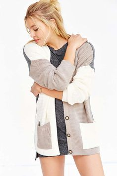 BDG Slouchy Colorblock Cardigan - Urban Outfitters