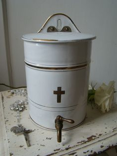 French Holy Water Container I want!!