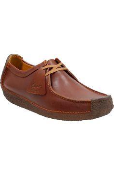 Clarks® Originals 'Natalie' Moc Toe Derby (Men)   Nordstrom Clarks Originals, The Originals, Men's Clarks, Leather Shoes, Derby, Casual Shoes, Shoe Boots, Nordstrom, Toe