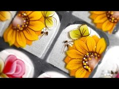 Brooch, Jewelry, Nail Stickers, Sunflower Nail Art, Sunflower Nails, Nail Manicure, Faces, Paintings, Jewlery