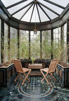 Petite Conservatory... I want something like this in my home someday