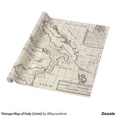 Vintage Map of Italy (1700) Wrapping Paper