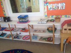 Language shelf toddler Montessori