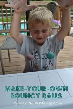 How to Make-Your-Own Bouncy Balls by cometogetherkids: The kids can easily make these themselves with Elmer's white glue, food coloring, Borax powder, cornstarch and warm water!