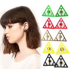 Min order 10USD E108 accessories fashion trend fashion punk neon color stud earring hot-selling Free shipping Jewelry on AliExpress.com. $0.38