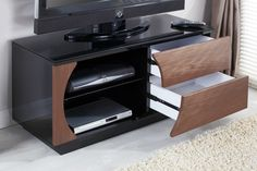 """Jual Furnishings JF019 High Gloss Designer TV Stand with Interchangeable Fascias - Designed for up to 60"""" TVs"""