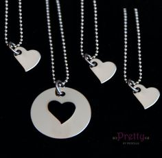 Mother Daughter Necklace Set Simple and by PrettyByPriscilla, $35.00