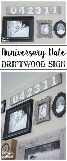 DIY Anniversary Date Driftwood Sign | Bless'er House - So easy! Cute for a wedding gift or Christmas presents. (And cheap.)