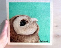 Art Print Owl painting Premium Giclee Print of original acrylic painting Signed…
