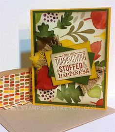 Mingle All the Way-Fall Style- Holiday Cat. '14 using Color Me Autumn DSP www.stampandstretch.com